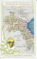 LES COLONIES FRANCAISES - ANNAM & LAOS - LOUANG PRABANG / THANH-HOA / VINH / QUI-CHU ( CHOCOLATERIE D'AIGUEBELLE ) - Laos