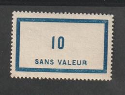 Fictif -   Emission 1956    - F120  -  10 Bleu Clair -   Neuf Sans Charnière - Fictie