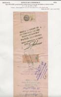 FISCAUX DE MONACO EFFET DE COMMERCE N°7  35 C BRUN Percé En ZIG ZAG 1933 - Fiscaux