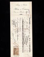 VIRIEU SUR BOURBRE (Isère) - Lettre De Change 1923 - Fabrique De Galoches - BLANC & TERRASSE - Letras De Cambio