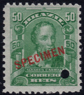 ✔️ Brazil 1906 - Alvares Pedro SPECIMEN Overprint ** MNH - Depart 1€ - Unused Stamps