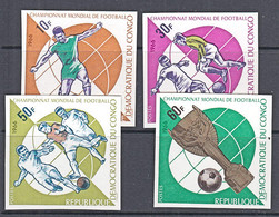 D5007 CONGO (Kinshasa) 1966, SG 622-5  Football World Cup, IMPERF MNH - Nuevas/fijasellos