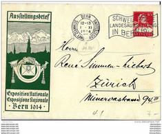 """28-48 -  Entier Postal  """"Austellungsbrief Expo Nationale 1914"""" Obli Mécanique - Entiers Postaux"""
