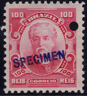 ✔️ Brazil 1906 - Eduardo Wandenkolk SPECIMEN Overprint ** MNH - Depart 1€ - Unused Stamps
