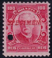 ✔️ Brazil 1906 - Eduardo Wandenkolk SPECIMEN Horizontal Overprint In Red ** MNH - Depart 1€ - Unused Stamps