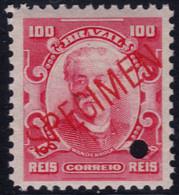 ✔️ Brazil 1906 - Eduardo Wandenkolk SPECIMEN Diagonal Overprint In Red ** MNH - Depart 1€ - Unused Stamps