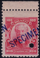 ✔️ Brazil 1906 - Eduardo Wandenkolk SPECIMEN Diagonal Overprint In Blue ** MNH - Depart 1€ - Unused Stamps