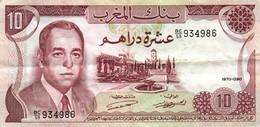 Maroc - Billet De 10 Dirhams - Hassan II - 1970 - Morocco