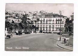 Napoli Piazza Vittoria Animata Spedita 1955 - Napoli (Naples)