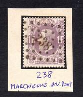 Oblitération à Points - Puntstempel - 238 - Marchienne-au-Pont - Sur COB/OCB N° 36 - Région De Charleroi - Hainaut - Punktstempel