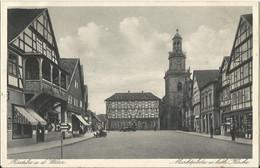 "2 135 Ak Rinteln Bahnpost ""HALLE(S)-LÖHNE(WESTF)"" 1932 - Covers & Documents"