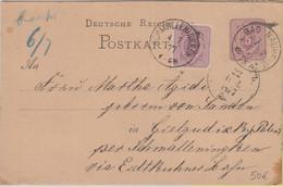 DR - 5 Pfg. Ganzsache Bad Nauheim - Schmalleningken - Georgenburg 1877 !! - Cartas