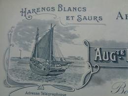 FACTURE - 62 - DEPARTEMENT DU PAS DE CALAIS - BOULOGNE/MER 1932 - ARMENENTS MARITIMES : A.. BOURGAIN- BOURGAIN  & FILS - Non Classés