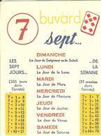BUVARD LES SEPT JOURS DE LA SEMAINE L ADDITION ET LA MULTIPLICATION DU 7 _ GARGARISME DE LUCHON - Kids