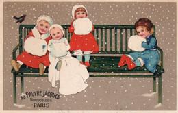 AU PAUVRE JACQUES - NOUVEAUTES - PARIS - 1 - NON VIAGGIATA - Cartolina Francese - Werbepostkarten