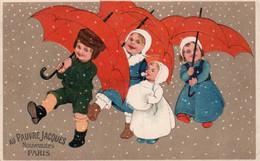 AU PAUVRE JACQUES - NOUVEAUTES - PARIS - 2 - NON VIAGGIATA - Cartolina Francese - Werbepostkarten