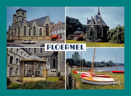 56 Ploërmel église Horloge Astronomique ( Multivues, Voiture Citroën Ami 6 ) - Ploërmel