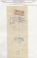 FISCAUX DE MONACO EFFET DE COMMERCE N°6  30 C BRUN Percé En ZIG ZAG 1933 - Fiscaux