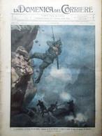 La Domenica Del Corriere 4 Luglio 1915 WW1 Isonzo Bersaglieri Maschera Antigas - War 1914-18