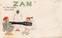 ZAN - LE MEILLEUR REGLISSE - 2 - NON VIAGGIATA - Cartolina Francese - Werbepostkarten