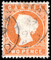 Gambia 1886-93 2d Deep Orange Fine Used. - Gambia (...-1964)