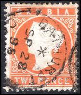 Gambia 1886-93 2d Deep Orange Wmk CA Sideways Fine Used. - Gambia (...-1964)