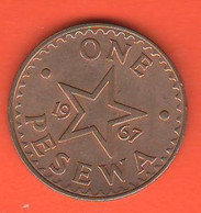 Ghana 1 Pesewa 1967 Bronze Coin - Ghana