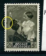 N° 448 V - Renflement Cadre à Gauche  - état: * - Plaatfouten (Catalogus OCB)
