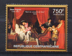 JEAN INGRES. Death Of Leonardo Da Vinci. 1818 - (CENTRAL AFRICAN 2013) MNH (2W0895) - Unclassified