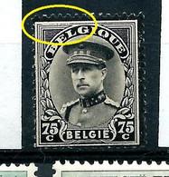 N° 384 - V9 - Filet Supérieur Brisé  -  état: ** - Plaatfouten (Catalogus OCB)