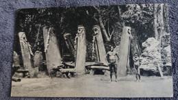CPSM NOUVELLES HEBRIDES LES TABOUS DS LE SILLAGE DE BOUGAINVILLE FORMAT 10.5 PAR 18 CM LA BIOMARINE TIMBRE - Other