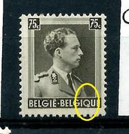 "N° 480 - V4 - Triangle Sur Le ""Q""    -  état: * - Plaatfouten (Catalogus OCB)"