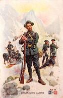 Chasseurs Alpins, Bivouac En Montagne. Dessin De Léon Hingre - Regimenten