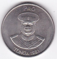Tonga 20 Seniti 1981 FAO.  Taufa'ahau Tupou IV, Cupronickel , KM# 70 - Tonga