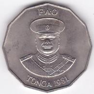 Tonga 50 Seniti 1981 FAO.  Taufa'ahau Tupou IV, Cupronickel , KM# 71 - Tonga