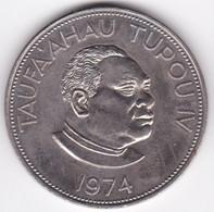 Tonga. 1 Pa'anga 1974  Taufa'ahau Tupou IV, Cupronickel , KM# 33 - Tonga