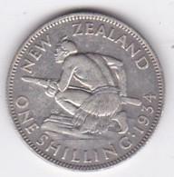 NEW ZEALAND . 1 Shilling 1934. GEORGE V . KM# 3. Argent - Nuova Zelanda