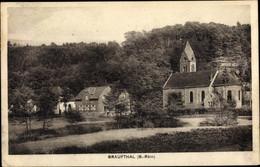 CPA Graufthal Eschbourg Eschburg Elsass Bas Rhin, Kirche, Dorfansicht - Other Municipalities