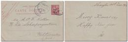 CHINE Entier Postal France 10c Mouchon Surchargé 1cent De Shanghai  1917 Pour Weltevreden, Java - Voir Scan - Briefe U. Dokumente