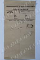 CONSULTATION GRATUITE, Assistance Publique Paris, HOTEL DIEU,cachet Pharmacie Rue Galande , Vers1864 - Historical Documents