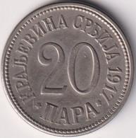 SERBIA 20 PARA 1917 , UNC - Serbia