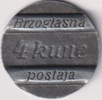 CROATIA , NDH , TELEPHON TOKEN USED IN WAR TIME LIKE COIN 4 KUNA - Croatia