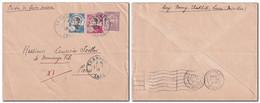 INDOCHINE 1932 - Lettre Entier Postal De THAKHEK LAOS Pour Paris Voir Scan - Briefe U. Dokumente