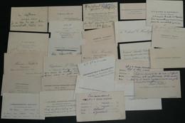 Archives De Roger Labonne LVF Lot D'anciennes Cartes De Visite, Début XXe CDV Militaria, Militaires - Cartoncini Da Visita