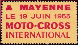 Vignette Juin 1955 à Mayenne 49 Moto Cross International   - T44  MAYENNE - Sport