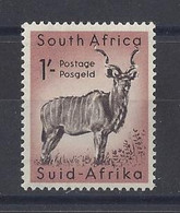 """SOUTH AFRICA....QUEEN ELIZABETH II...(1952-NOW..)..."""" 1954..""""....1/-.........SG159.......GAME........MH... - Wild"""