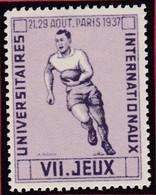 Vignette PARIS 1937 VII Jeux Internationaux  Universitaires  RUGBY  - T44 - Sports
