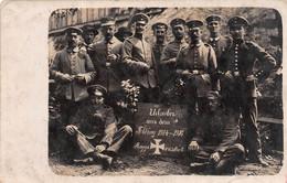 Carte Photo Militaire Allemand ROGGENSBACH-RANRUPT-67-Bas-Rhin-Bruche-Urlauber-Soldaten-Soldat-Krieg-14/16 - Other Municipalities