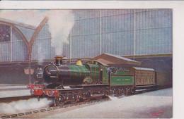 UNITED KINGDOM - Railways 4-4-0 Express Engine STANLY BALDWIN Starting From (London) Paddington - Trains