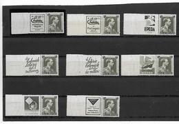 België Pu  129/136  Xx Postfris - Werbung